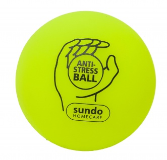 Anti-Stressball Knautschball Stressball 7cm GELB Sani-Alt