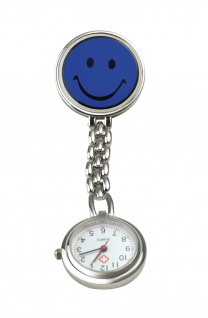 Schwestern-Uhr SMILEY blau Sani-Alt