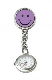 Schwestern-Uhr SMILEY lila Sani-Alt