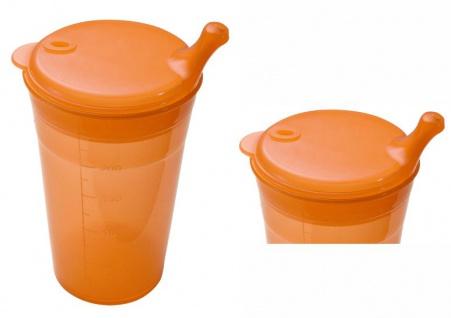 Trinkbecher-Set Tee und Brei, kurzes Mundstück, orange Sani- Alt