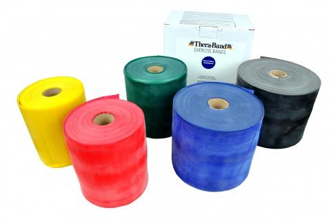 Thera-Band 45, 5 m SCHWARZ xxl stark in Box Gymnastikbank Fitnessband Sani-Alt