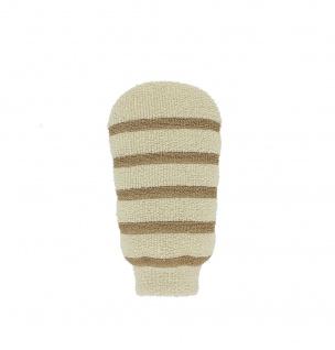 Riffi Massage Handschuh Waschhandschuh Wellness Peeling beige-braun Sani-Alt