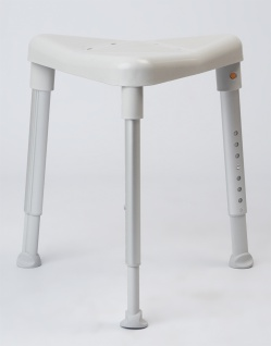 Duschhocker EDGE 7-fach höhenverstellbar Duschsitz Duschhilfe weiß Sani- Alt