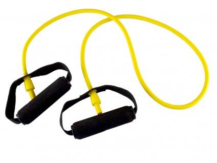 Body-Tube 125 cm gelb leicht mit Schaumgriff Tube Fitnessband Sani-Alt