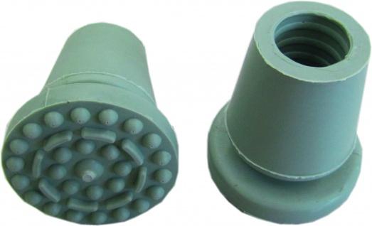 Krückenkapsel DYNAMISCH grau 1 Stück für Rohrdurchmesser von 17-20mm Sani-Alt