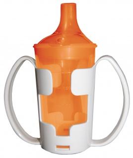 Trinkbecher-Set Tee und Brei, langes Mundstück, mit Halter orange Sani-Alt