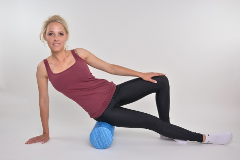 Fitness- und Massagerolle Faszienrolle 90cm blau Sani-Alt