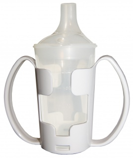 Trinkbecher-Set Tee und Brei, langes Mundstück, mit Halter transparent Sani-Alt