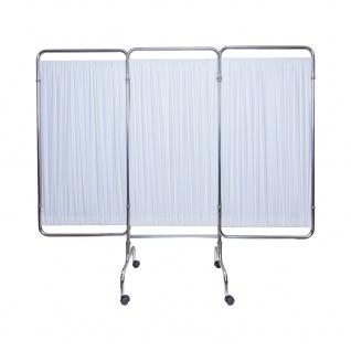 Paravent mit Rollen Sichtschutz Raumteiler Trennwand 3-teilig faltbar Sani-Alt