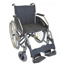 Rollstuhl LEXIS LIGHT 48 cm silber verstellbare Sitzhöhe Sani-Alt
