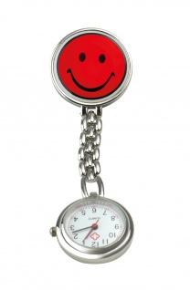 Schwestern-Uhr SMILEY rot Sani-Alt