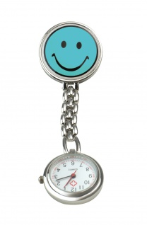 Schwestern-Uhr SMILEY hellblau Sani-Alt