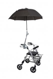 Rollatorschirm OLIVE Regenschirm Sonnenschirm Schirm inkl. Befestigung Rolko
