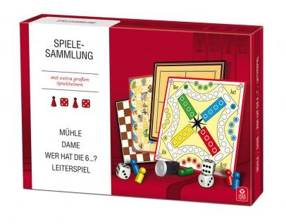 Spielesammlung Familienspiele mit extra großen Spielsteinen Sani-Alt