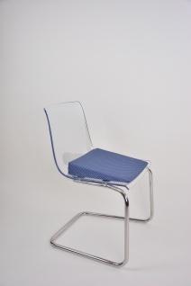 Keilkissen mit Baumwollbezug BLAU MIT PUNKTEN Sitzkissen Sitzerhöhung Sani-Alt