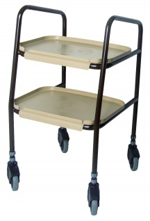 Servierwagen Küchenwagen mit abnehmbaren Tabletts höhenverstellbar Sani-Alt
