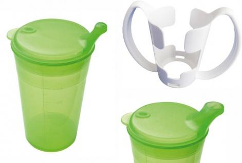 Trinkbecher-Set Tee und Brei, kurzes Mundstück, mit Halter grün Sani- Alt
