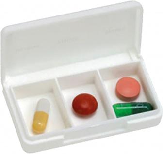 Tablettendose, klein, 3-Fächer Sani-Alt