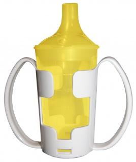 Trinkbecher-Set Tee und Brei, langes Mundstück, mit Halter gelb Sani-Alt