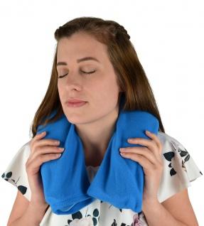 Nackenwärmflasche mit Flauschbezug blau Sani-Alt