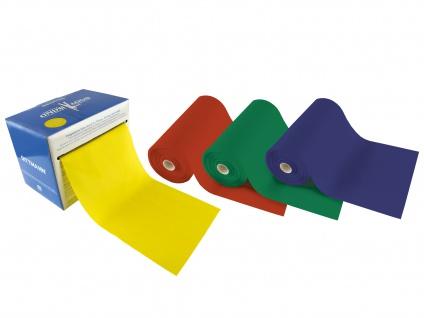Body-Band in Box 25 m gelb leicht Fitnessband Gymnastikband Übungsband Sani-Alt