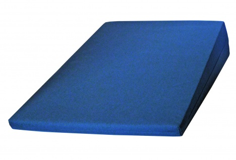 Keilkissen mit Baumwollbezug blau EXTRA GROSS Sani-Alt
