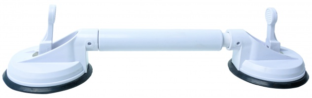 Teleskop-Saughaltegriff mobiler Haltegriff Vakuum-Saugnäpfe ausziehbar Sani-Alt
