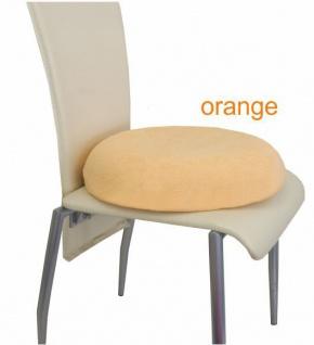 VIsco-Kissen rund, orange Sani-Alt - Vorschau