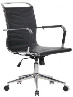 Chefsessel Echtleder schwarz 136 kg belastbar Drehstuhl Bürostuhl modern design