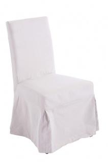 Esszimmerstuhl Stoff beige Bezug abnehmbar Küchenstuhl Eichenholz design modern
