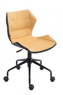 Bürostuhl gelb Stoffbezug Bürosessel robust günstig preiswert Chefsessel design