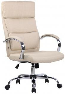 Bürostuhl creme Stoffbezug Chefsessel Drehstuhl Schreibtischstuhl Computerstuhl