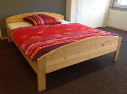 Holzbett 160x200 cm Kiefer massiv gebeizt/geölt Doppelbett Ehebett Gästebett