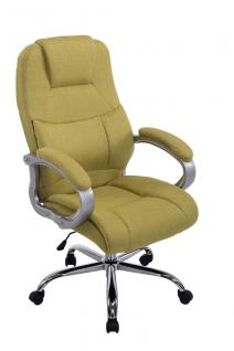 XXL Chefsessel bis 210 kg belastbar Stoffbezug grün Bürostuhl hochwertig stabil