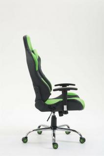 XL Bürostuhl 136 kg belastbar Kunstleder schwarz/grün Chefsessel Gamer Zocker - Vorschau 3