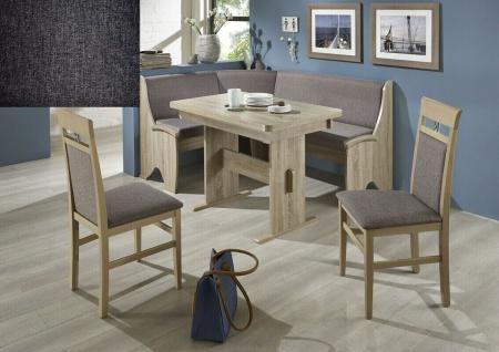 Eckbankgruppe Eiche Sonoma / Stoff dunkelgrau Essecke Tischgruppe Auszugtisch