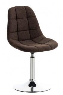 Esszimmerstuhl braun drehbar Stoffbezug Küchenstuhl design modern hochwertig
