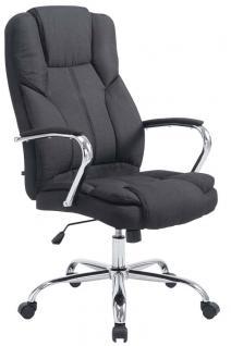 XXL Bürostuhl bis 210 kg belastbar für schwere Personen Chefsessel schwarz Stoff
