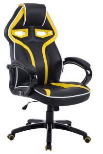 XL Bürostuhl 150 kg belastbar schwarz gelb Chefsessel modern design hochwertig