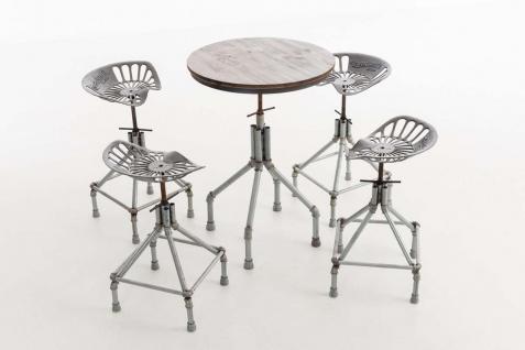 industrial Sitzgruppe XL Essgruppe Tischgruppe Esstisch Hocker Stühle Industrie