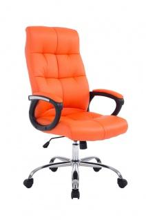 Bürostuhl 160 kg belastbar Kunstleder orange Chefsessel für schwere Personen