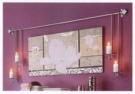 Wandkerzenhalter metall online bestellen bei yatego for Moderne wanddeko aus metall