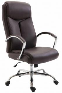 XL Bürostuhl 140kg belastbar Kunstleder braun Chefsessel Drehstuhl Computerstuhl