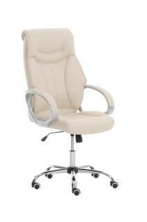 Bürostuhl 150kg belastbar creme Chefsessel Drehstuhl Computerstuhl stabil robust