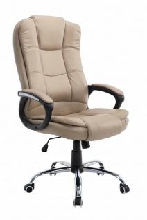 Bürostuhl khaki 120 kg belastbar Chefsessel Kunstleder Drehstuhl stabil robust