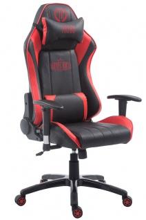 Chefsessel bis 150 kg belastbar schwarz rot Bürostuhl Gaming Zockersessel stabil