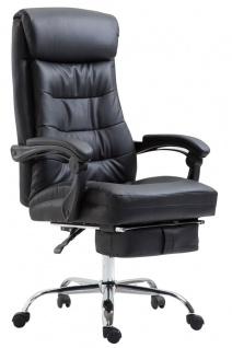 XL Chefsessel belastbar 136 kg Kunstleder schwarz Bürostuhl Fußablage modern