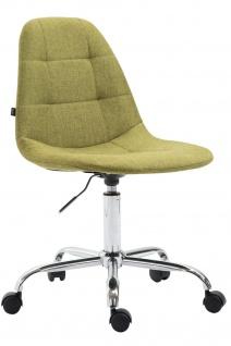 Bürostuhl Stoffbezug grün modern design drehbar Drehstuhl Arbeitshocker günstig