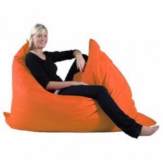 Riesensitzsack Sitzsack Sitzkissen XXL orange deutscher hersteller kissen sofa