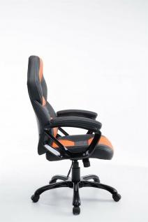 XL Bürostuhl 150 kg belastbar schwarz orange Kunstleder Chefsessel hochwertig - Vorschau 3